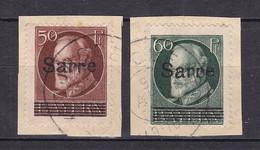 Saargebiet - 1920 - Michel Nr. 25/26 - Briefst. - Usati