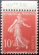 R1491/157 - 1906 - TYPE SEMEUSE CAMEE - N°135c (III) NEUF** BdF - 1906-38 Sower - Cameo