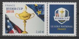 France 2018 - YT N°5245A Ryder Cup Golf Issue Du Bloc Bleu 2,60 € LUXE MNH RARE ! - Neufs