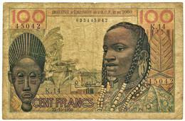 TOGO ( French West Africa ) - 100 Francs - 23.10.1956 - P 46 - Serie K. 14 - Institut D' Emission De L'AOF Et Du TOGO - Togo