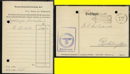 Maschinen-Stpl. Kiel 24.1.42 + BfSt. Marinestandortverwaltung Kiel   - Sin Clasificación