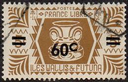 Wallis Et Futuna Obl. N°  149 - Série De Londres. 60c Sur 5c Bistre-brun - Used Stamps