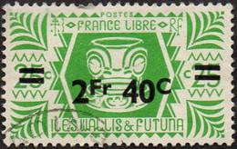 Wallis Et Futuna Obl. N°  152 - Série De Londres. 2fr40c Sur 25c Vert-jaune - Used Stamps
