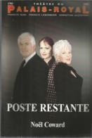 PRM / Program Theater / Programme Théatre  POSTE RESTANTE BRIALY  Line RENAUD SINIGALIA BARI - Programs