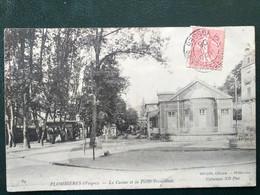 88, Plombières , Le Casino Et La Petite Promenade En 1906.   .scan Recto Verso - Plombieres Les Bains