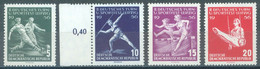 DDR - 1956 -  MNH/*** LUXE  - LEIPZIG SPORT - Mi 530-533 Yv 254-257 - Lot 23377 - Unused Stamps