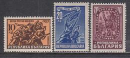 Bulgaria 1947 - Lutte Contre Le Fascisme, YT 536/38, Neufs** - Nuevos