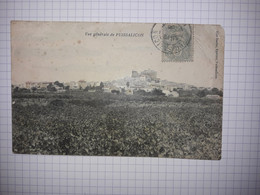 34 - PUISSALICON - VUE GENERALE COULEUR - 1908 - Autres Communes