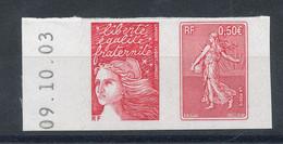 3619P** Ou P3619** Paire Issue Du Carnet Semeuse De Roty - Unused Stamps