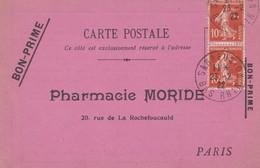 PHARMACIE MORIDE PARIS - BON PRIME DE 1922 - ELIXIR DE VIRGINIE NYRDHAL. - Bonos