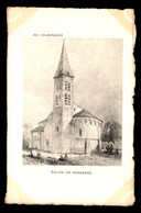 51 - BEZANNES- L'EGLISE - GRAVURE - PUBLICITE CHAMPAGNE HENRY GOULET - Altri Comuni
