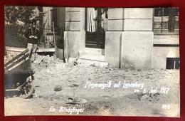 Luxembourg . Fliegerangriff Auf Luxemburg 1917 . Ein Blindgänger . - Luxemburg - Stad