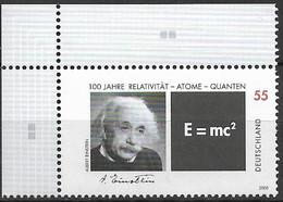 2005  Germany  Deutschland  Mi.  2475  **MNH   EOL :  Albert Einstein - Unused Stamps