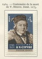 URSS - Sowjetunion - CCCP - Russie 1964 Y&T N°2886 - Michel N°2990 * - 4k V Struve - Unused Stamps