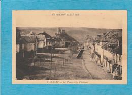 Najac ( Aveyron ). - La Place Et Le Château. - Najac