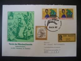 Österreich 1987- Reco Schmuck-Beleg Der Märchenfreunde Gelaufen Mit  MiNr. 1674 Von Garsten Nach Linz Zu LH Ratzenböck - 1981-90 Storia Postale