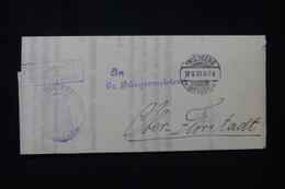 ALLEMAGNE - Lettre De Friedberg En Franchise En 1908 - L 91842 - Storia Postale