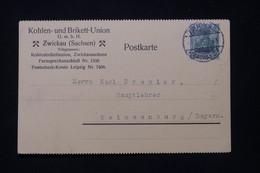ALLEMAGNE - Carte Commerciale De Zwickau Pour Weissenburg En 1915 - L 91845 - Storia Postale