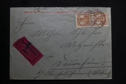 ALLEMAGNE - Enveloppe De Frankfurt En 1920 En Exprès - L 91852 - Storia Postale