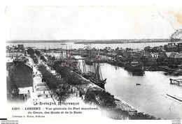 Lorient. Vue Générale Du Port Marchand ,du Cours , Des Quais Et De La Rade . - Lorient