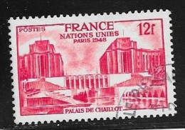 N° 818  FRANCE OBLITERE  -  PALAIS DE CHAILLOT  -  1948 - Usados