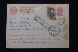 U.R.S.S. - Enveloppe En Recommandé De Kiew Pour Rome En 1950 - L 91856 - Covers & Documents