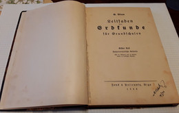 Old German Illustrated Book By Blum Guide Leitfaden Der Grdsunde Fur Grundschulen Textbook 1923 - School Books
