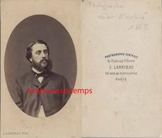 Par Larribau à Paris- CDV Second Empire-homme De Caractère - Antiche (ante 1900)
