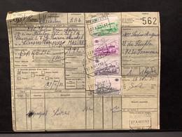 Spoorwegborderel TR378, 393, 396 (200BEF) Gestempeld FRAMERIES NR 1 - 1952-....