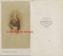 Photographie Des Champs Elysées à Paris- CDV Second Empire-homme De Caractère - Old (before 1900)