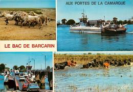 CPSM LE BAC DE BARCARIN - Passage Du Grand Rhône Entre Salin De Giraud Et Port Saint Louis   L387 - Non Classificati