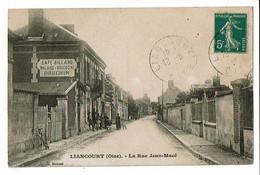60 - LIANCOURT - La Rue Jean Macé, Café Dauchin - 38 - Liancourt