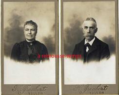 Par Gaubert à Toulon-2 CDV Couple- - Old (before 1900)