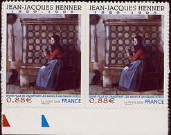 FRANCE Timbre Adhésif Année 2008 N° 223 En Paire Peinture Jean-Jacques HENNER - Luchtpost