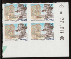 FRANCE Timbre Adhésif Année 2009 N° 340 Bloc De 4 Timbres - Mémorial Jean MOULIN à Caluire - Luchtpost