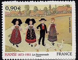 FRANCE Timbre Adhésif Année 2009 N° 370 Peintre HANSI (Jean-Jacques WALTZ) - Luchtpost