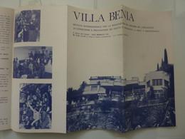 """Pieghevole Pubblicitario Illustrato  """"VILLA BENIA ISTITUTO INTERNAZIONALE DISTURBI LINGUAGGIO  - RAPALLO"""" Anni '70 - Advertising"""