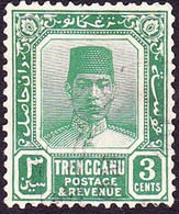 MALAYA TRENGGANU 1926 3c Green SG28 FU - Trengganu