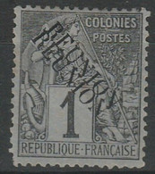 COLONIES - REUNION - N° 17a -nsg - Double Surcharge - Gebraucht