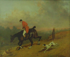 JOHN LEWIS BROWN, France - 1829/1890, Chasse à Courre, Hunting With Hounds, Oil On Canvas, 39 X 46 Cm - Oleo