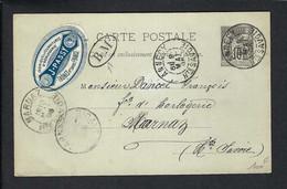 "FRANCE Haute Savoie 1895: CP Entier De 10c  Annecy, Marque ""BM"" (Boîte Mobile) - Standard Postcards & Stamped On Demand (before 1995)"