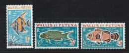 """Wallis Taxe YT 37 à 39 """" Poissons """" 1963 Neuf** - Postage Due"""