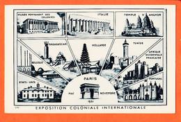 X75569 PARIS Mai-Novembre 1931 Exposition Coloniale Internationale Multivues Liste Pays BRAUN 118 - Exposiciones