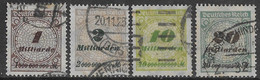Germania Deutsches Reich 1923 Definitives 4val Mi N.325-326,328-329 US - Gebruikt