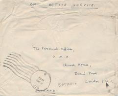 Nederlands Indië - 1946 - FPO 612 - Fieldpost Indian Army - On Active Service - Van Batavia Naar London / UK - Netherlands Indies