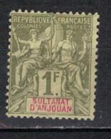 ANJOUAN           N°  YVERT  :   13  NEUF AVEC  CHARNIERES      (  CH  02/20 ) - Unused Stamps