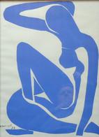 HENRI MATISSE - NU BLEU - Sérigraphie Sur Vélin: 58,5 X 44,5 Cm - 1952 - Encadré Sous Verre - Oleo