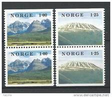 Norvège 1978 N°727a/728a  Paires Neuves** Paysages - Neufs