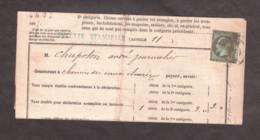 Napoléon III N° 19 Vert-olive Foncé Sur Doc. Taxe Municipale Sur Les Chiens - Grenoble 1867 - 1849-1876: Periodo Clásico