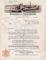 67  STRASBOURG CRONENBOURG COURRIER 1948 BRASSERIE DE KRONENBOURG Bière Tigre Bock  - X117 BAS RHIN - 1900 – 1949
